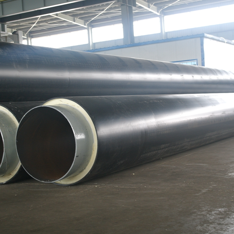Directly buried polyurethane foam tube thermal insulation system 32 mm steel pipe