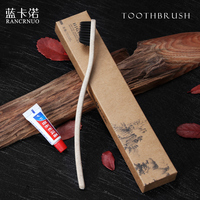 Composable hotel toothbrush with pasten /bamboo or plastic toothbrush case
