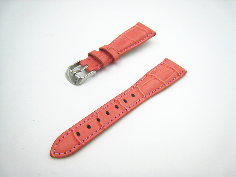 2015 Peach Red Limited Free shipping 20mm Watch High Quality Soft Sweatband Genuine Leather Strap for Hours Watchband Watch Band
