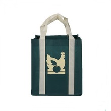Eco-friendly green color 90g <span class=keywords><strong>비</strong></span> <span class=keywords><strong>짠</strong></span> 쇼핑 포장 tote bag 와 handles to the bottom