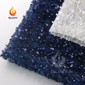 Factory Supplier Black Beaded Spring Dress Making Lace Fabric