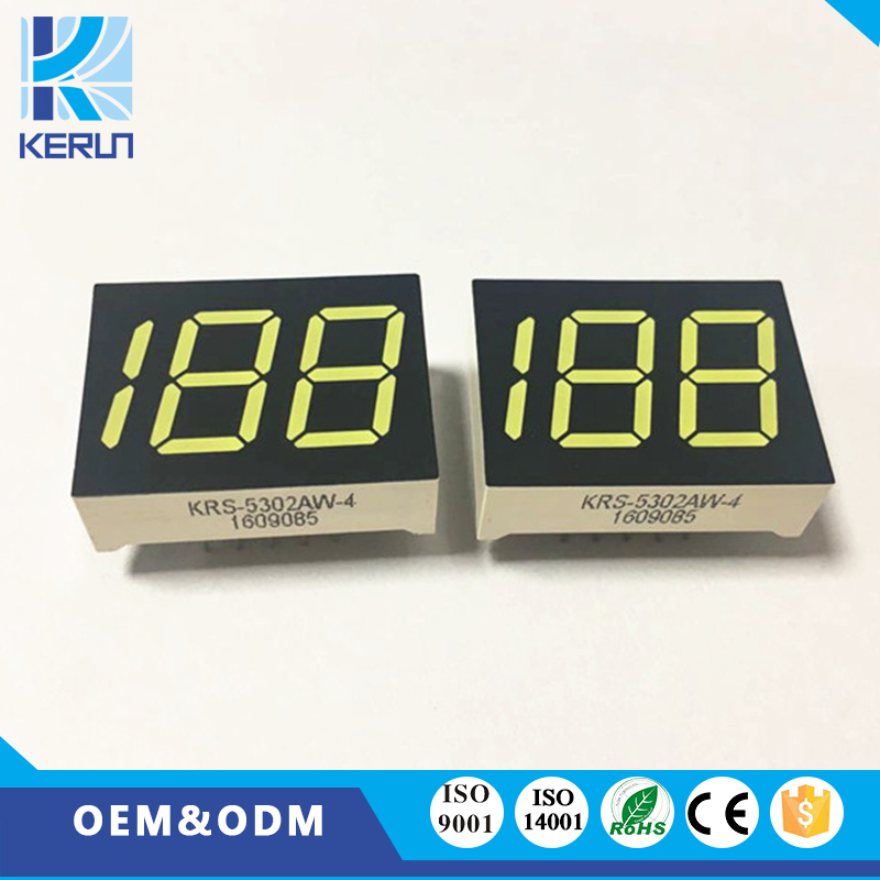Free samples white color anode 2digits 0.50inch led numeric display for indoor usage