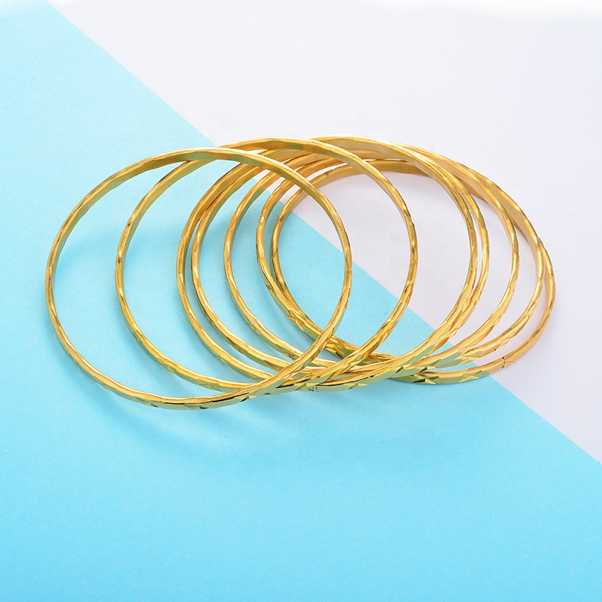 Modalen Elegant African 14k Gold Plated Jewelry Lady Bracelet Bangle Stainless Steel
