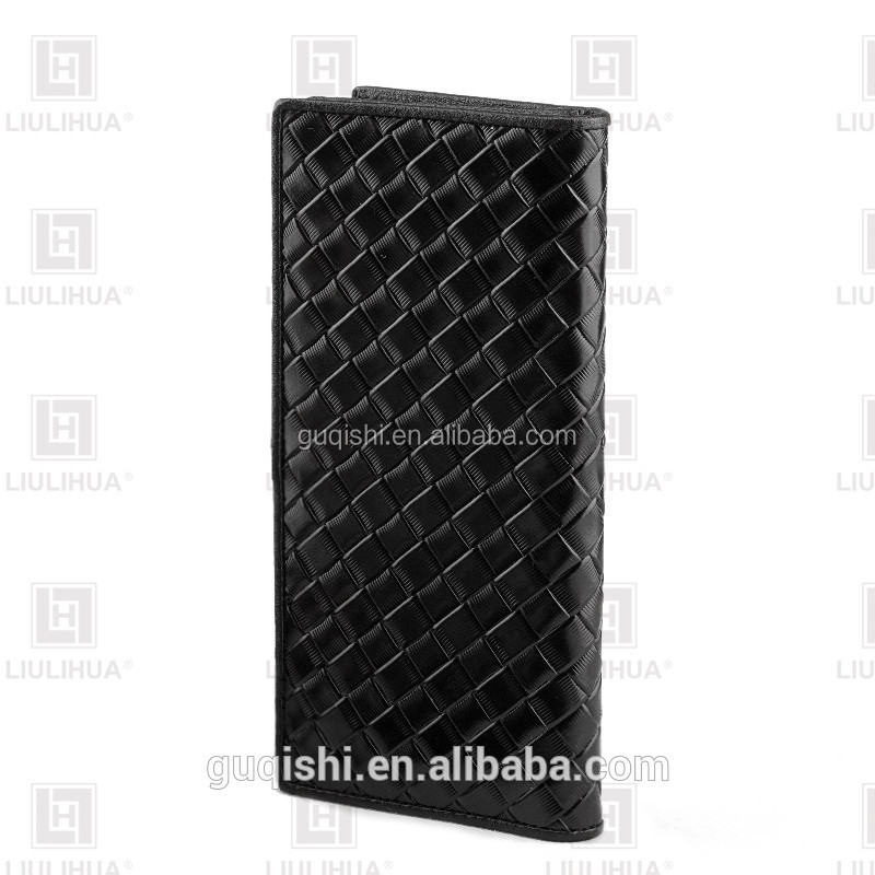 LIULIHUA Alibaba Braided Black Genuine Leather Men Leather Wallet