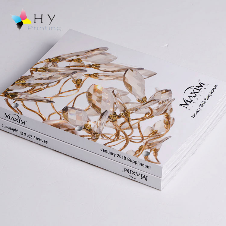 Perfect binding colorful fashion product Laminates catalog printing design