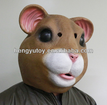 2014 Newly Party Masquerade Costume Full Head Animal Fancy Dress Latex Masquerade Mouse Mask for Dancing