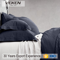 VEKEN products linen bed sheet set with pillowcases