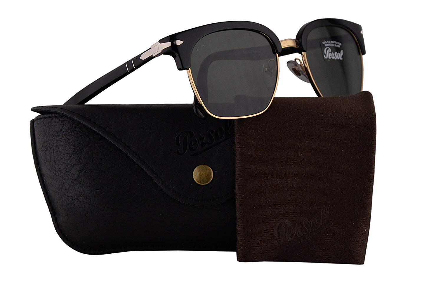 994800e1f3 Get Quotations · Persol PO3199S Tailoring Edition Sunglasses Black w Green  Lens 50mm 9531 PO 3199-S