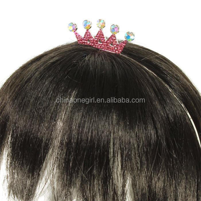 Pink Rhinestone Crown Adjustable <strong>Headband</strong>