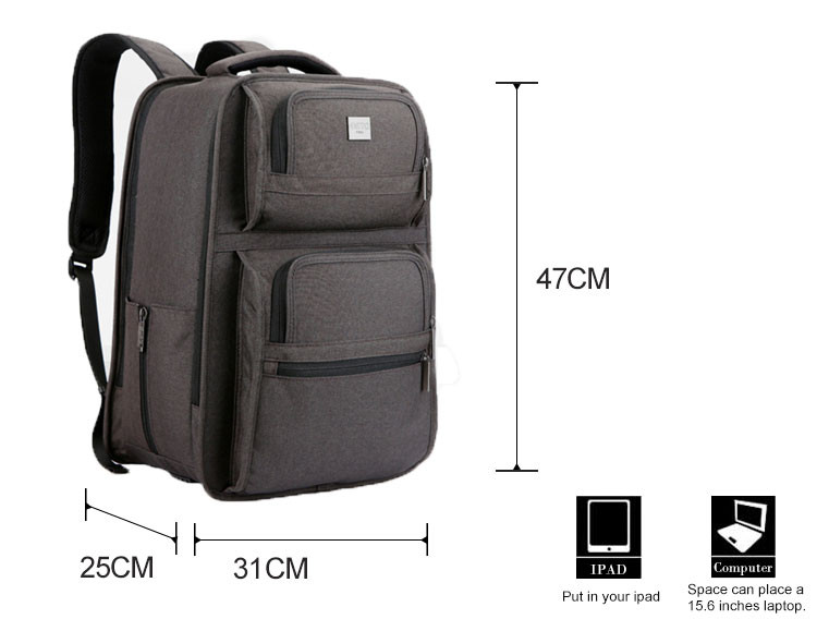 Promotional China huge space 25cm thick life backpack