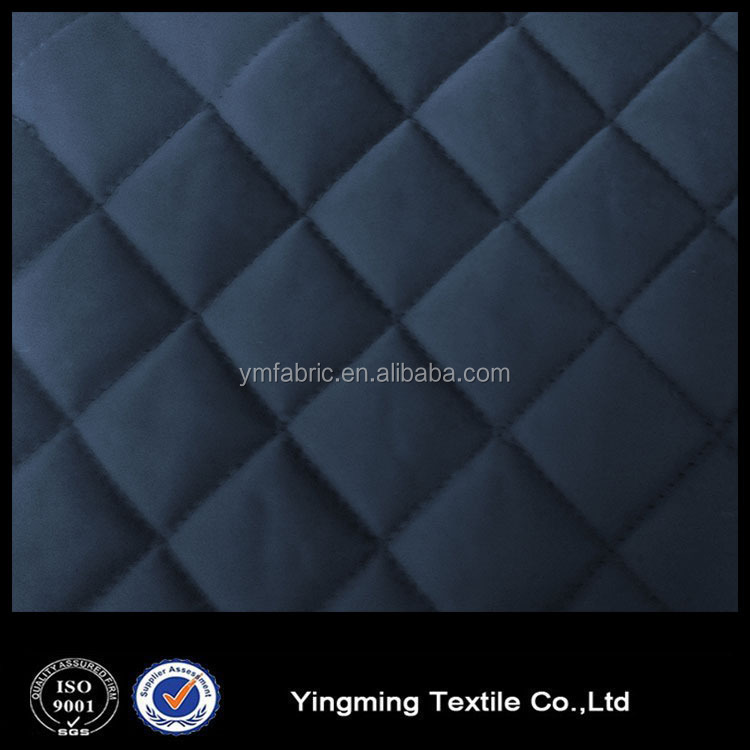 Diamond quilted fabric for garment Quilted fabrics wholesale satin bedspread