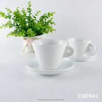 Coffee ceramic cups wholesale bulk custom logo image decal household porcelain ceramic tea cup and saucer