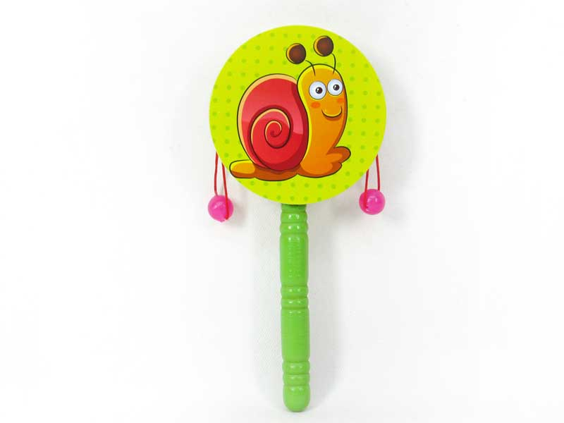 2017 musical wood wrist rattle,Wooden cartoon colored rattle drum,