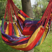 Hammock Hanging Rope Chair Air Outdoor Swing Yard Patio Tree Cotton Solid Wood