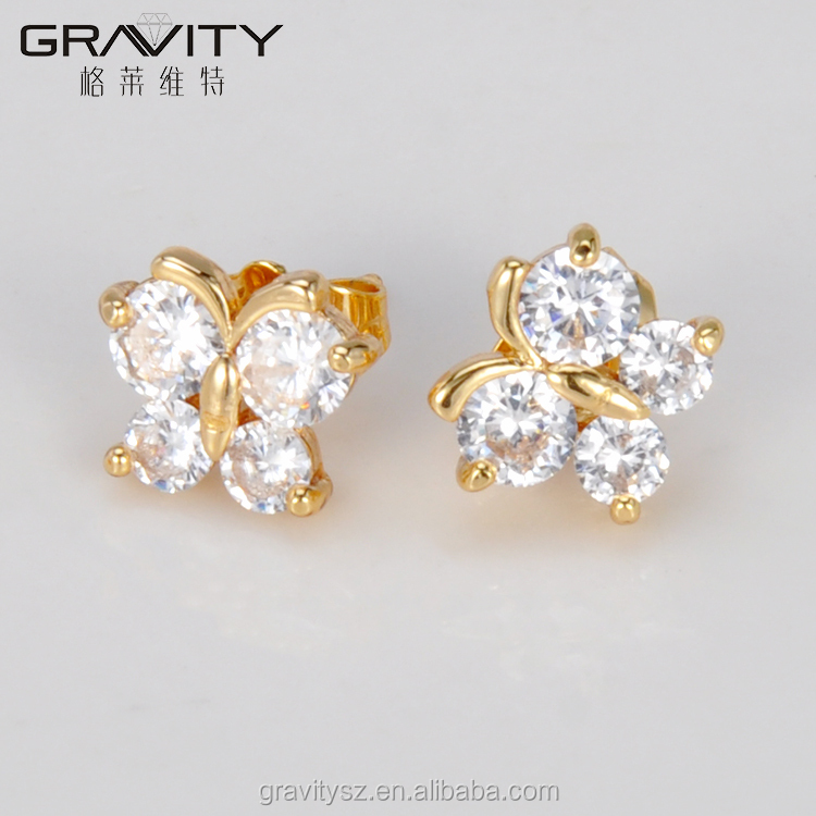 Wholesale Small And Simple 18k Gold Plated Stud Earrings Jewelry ...
