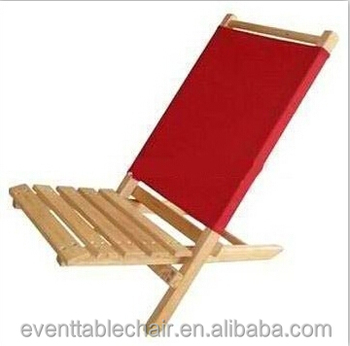 Hot Foldable Beach Chair Slats Solid Wooden Folding Wood Relaxing
