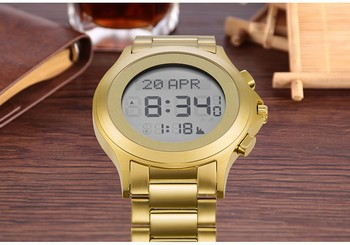 ce rohs smart Wholesale muslim watch for men high quality newest design muslim azan watch