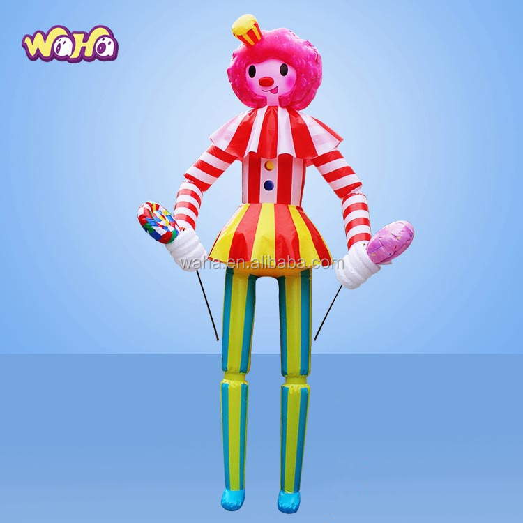 Popular design advertising used adult clown costume <strong>inflatable</strong>