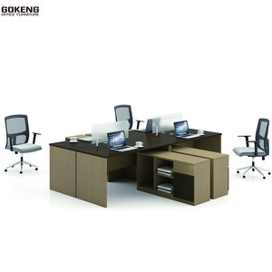 fish aquarium office table Workstation home office furniture desk Furniture 4 Person Partitions office table decoration