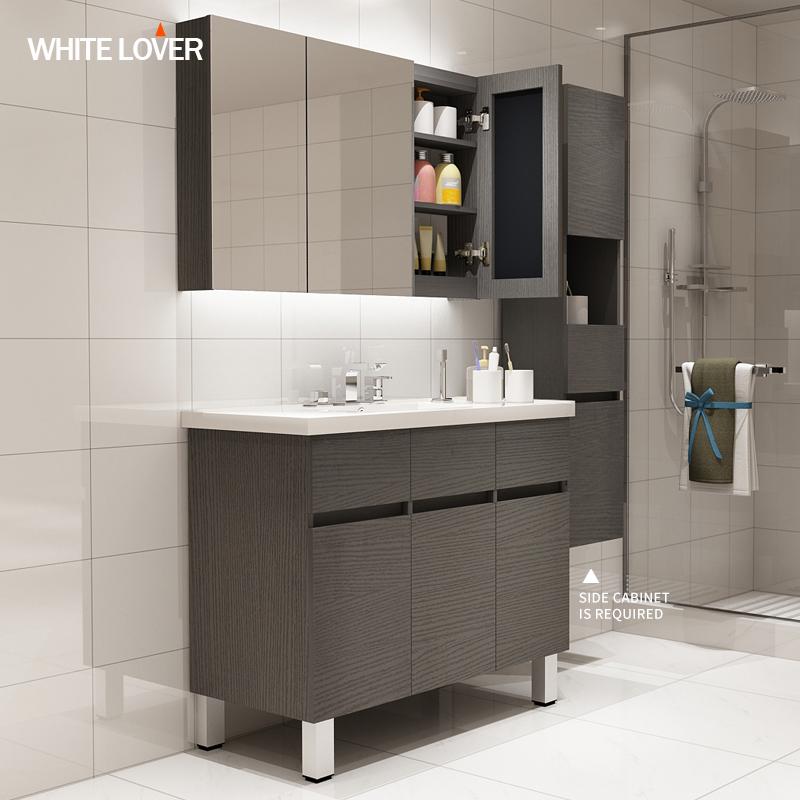 European Style Modern Floor Mounted Single Sink Bathroom Vanity With Mirror Cabinet Sets Buy Modern Bathroom Cabinet European Modern Bathroom