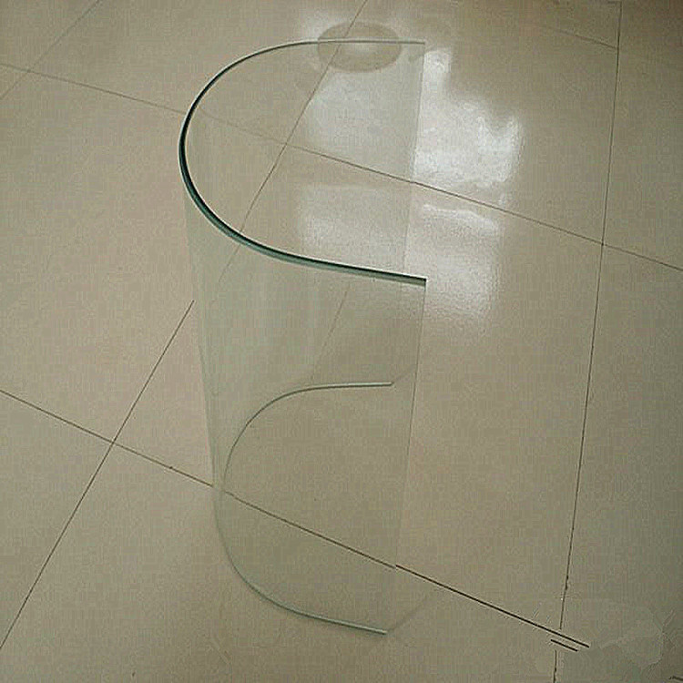 6mm 8mm Customized U Shape Hot Bending Glass Curved Glass