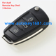 Blank Flip Folding Remote Key Fob Case Shell NEW Fit For Audi A2 A3 A4 A6 A6L A8 TT 3-button key shell with uncut blade