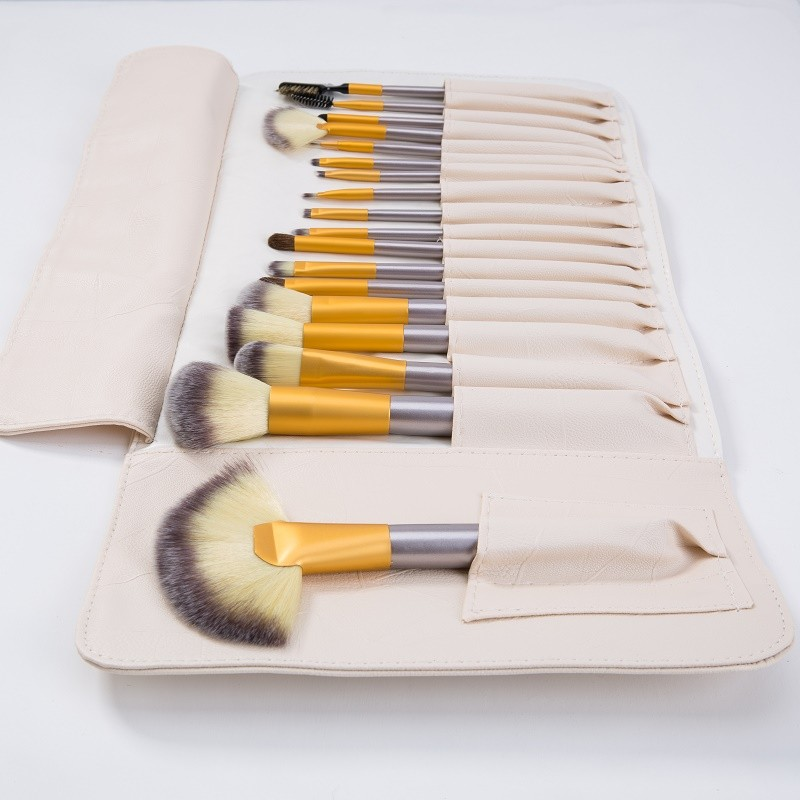 18 Persian MAO m white makeup brush Champagne brush handle Makeup brush set no logo undertakes