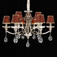 popular brushed nickel chandelier pendant light for villa dinnig room