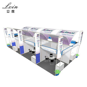Custom made modular exhibition booth aluminum for Middle East Exhibition