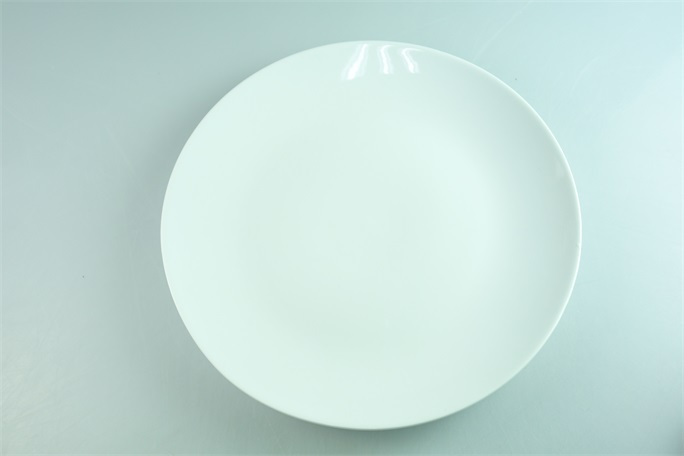 cheap ceramic round shape big white serving platters