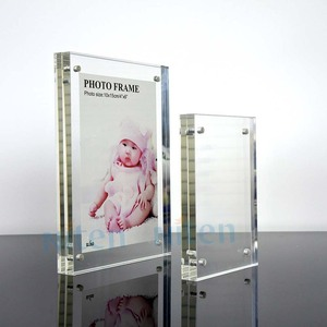 Perspex plexiglass Acrylic Magnet Photo Frame