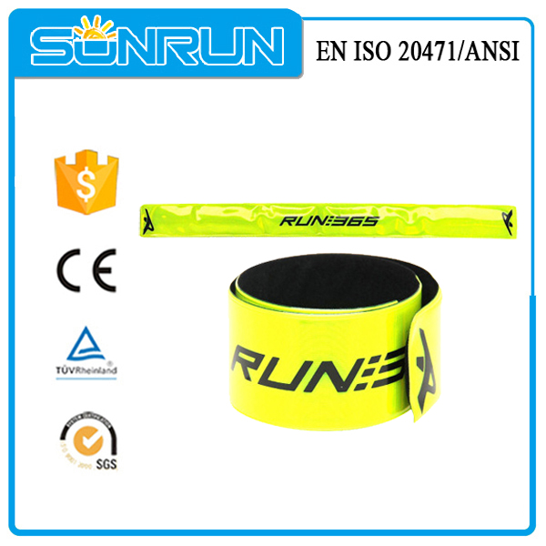 Reflective custom printed Lime Arm Leg Band