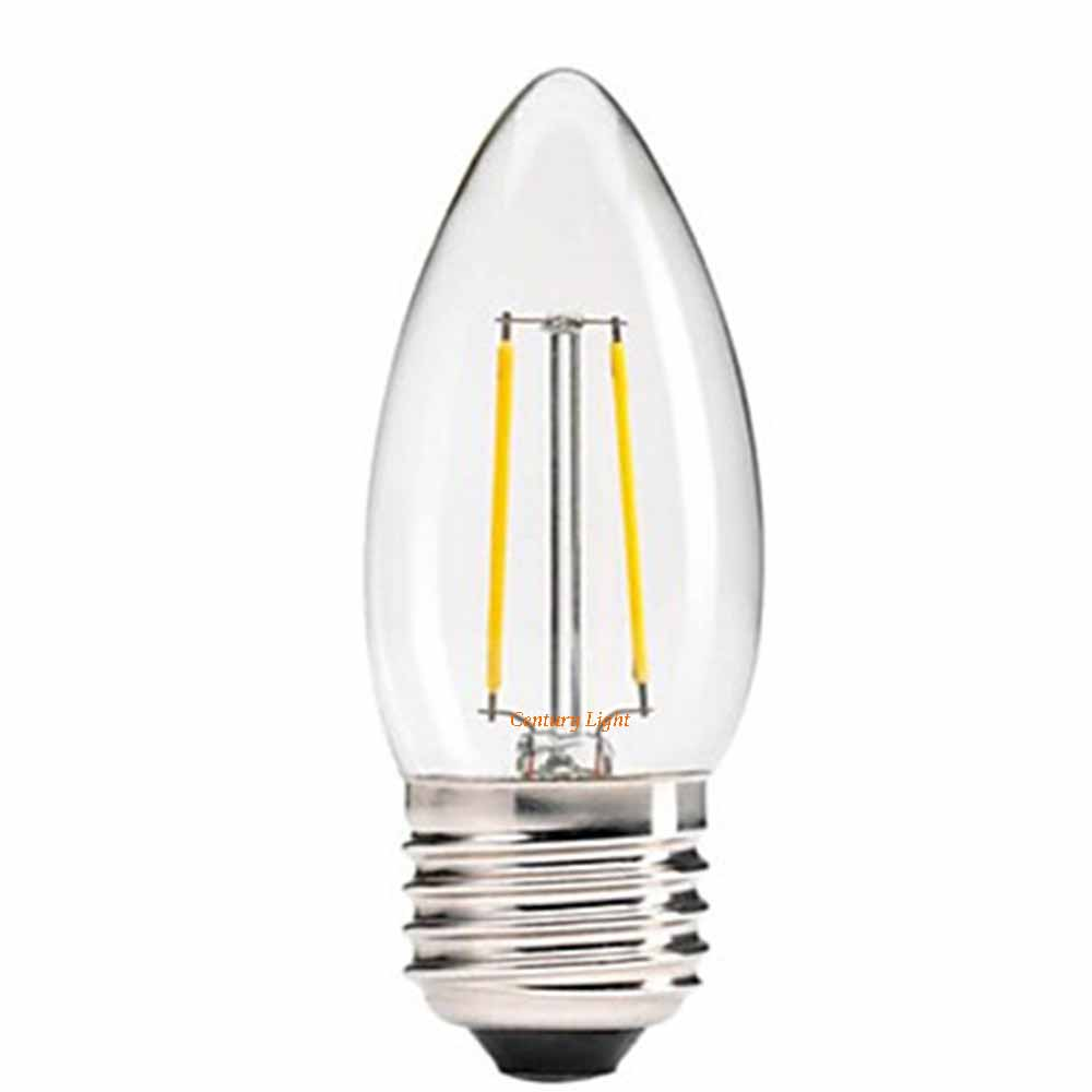 2w 4w 6w e27 e26 led filament light bulb chandelier candle style warm white 110v 220v dimmable. Black Bedroom Furniture Sets. Home Design Ideas