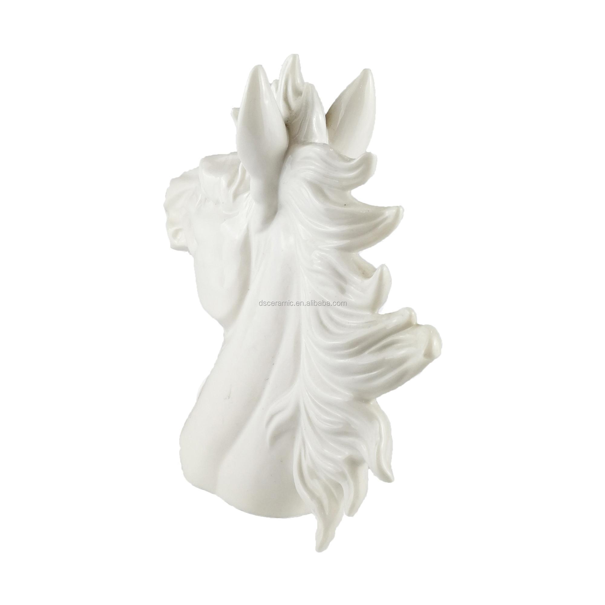 Antique White Chinese Ceramic Bisque Horse Figurines Unpainted - Buy  Antique Ceramic Horse Figurines,Ceramic Chinese Figurines,Unpainted Ceramic