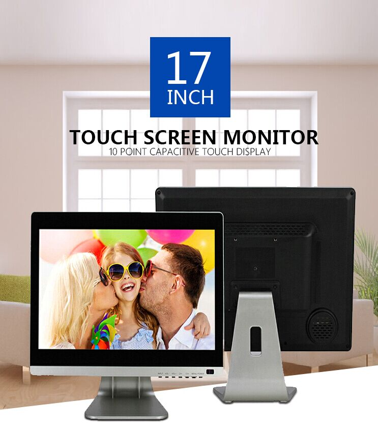 Promotional Price Fashionable design Flat 17 inch 10 points capacitive touch screen monitor