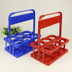 Wholesale Plastic Beer Cup Holder Foldable Beer Hand Basket