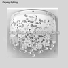 Round acrylic lamp shade crystal hanging light for hotel