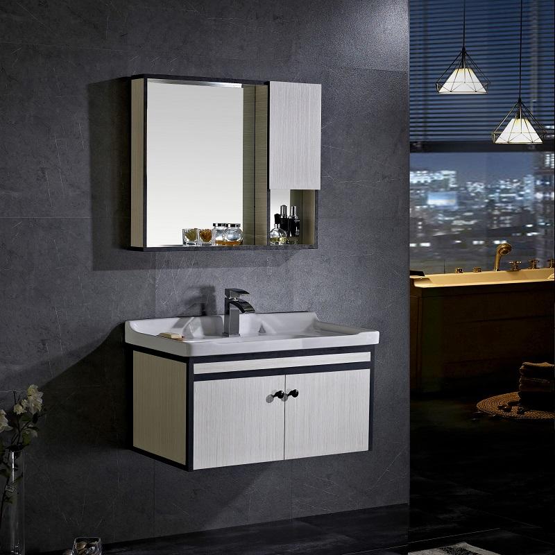 Admirable New Modern Design Bathroom Vanities With Tops Wash Basin Mirror Cabinet Aluminum Bathroom Cabinet With Mirror Cabinets Sink Buy Bathroom Vanities Interior Design Ideas Gentotryabchikinfo