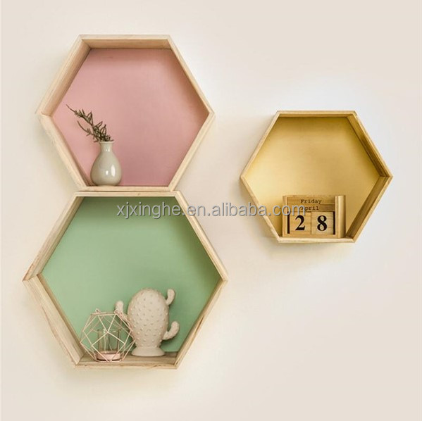 Floating Hexagon Wall Decor Modern