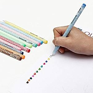 12 PCS Cute Shining Candy Ballpoint Pen Set Stationery 0.5mm / 12 PCS Cute Shining Candy Ballpoint Pen Set Stationery 0.5mm . . Specification: . Cute love hearts and little dots as lovely dec