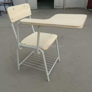 Wooden student chair training chair with writing-board