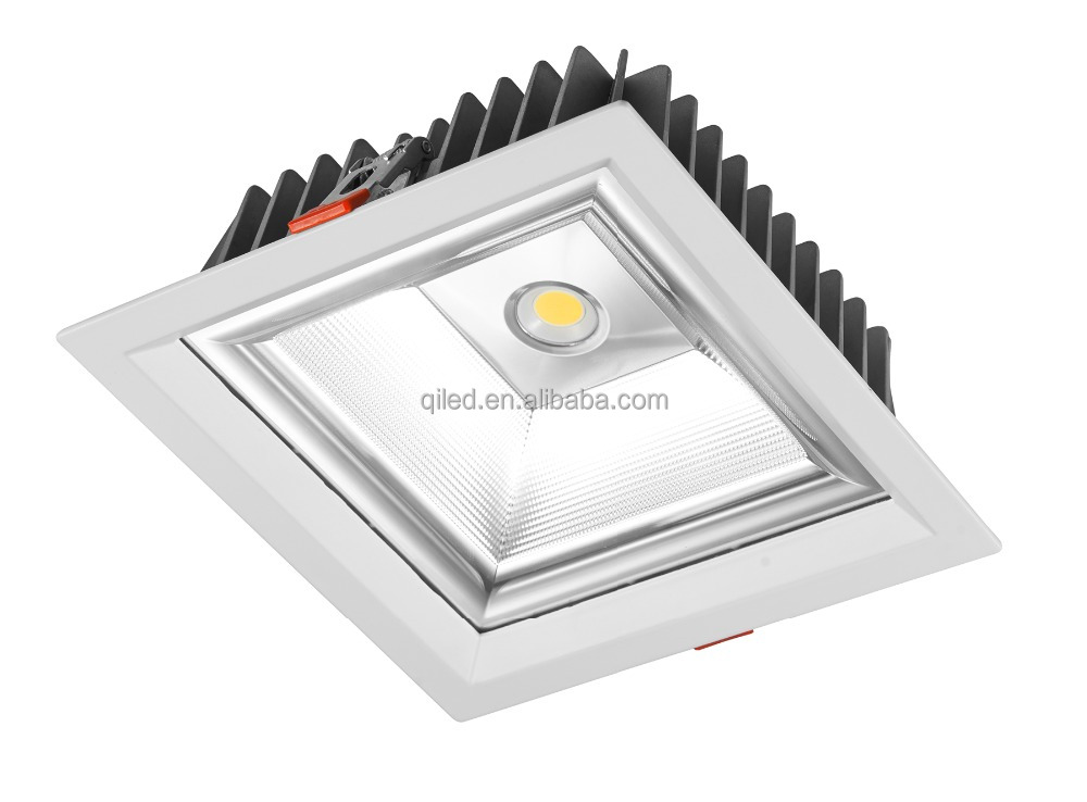 Factory direct selling square ceiling spot light dimmable 10w cob led spotlight