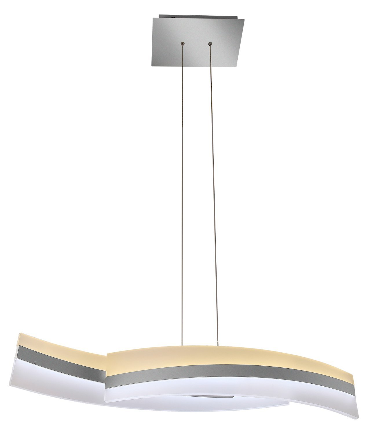 "Metis Vhc36600Al 39"" Two-Tier Wifi-Enabled Tunable White Color-Changing Led Linear Chandelier, From The Vision By Vonn Series"