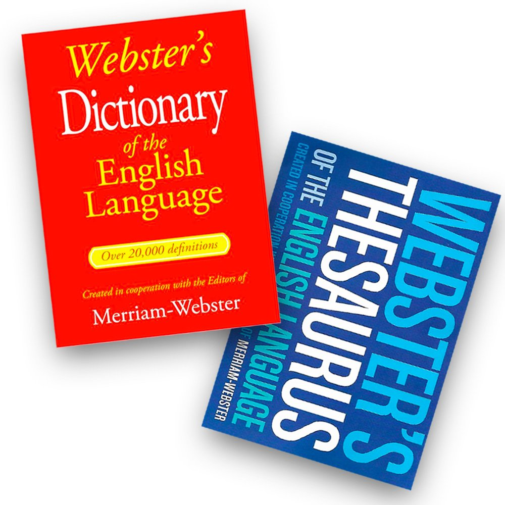 Webster's Dictionary & Thesaurus Set for Students (Reference Edition)