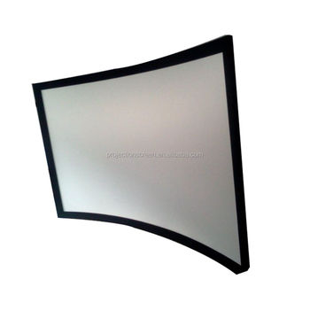 Curved Fixed Frame Screen/3d Screen/3d Max/wall Screen - Buy Curved ...