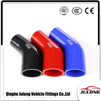 High pressure flexible automotive ID 76-70mm 3-2 3/4 Inch 45 degree silicone reducer elbow hose