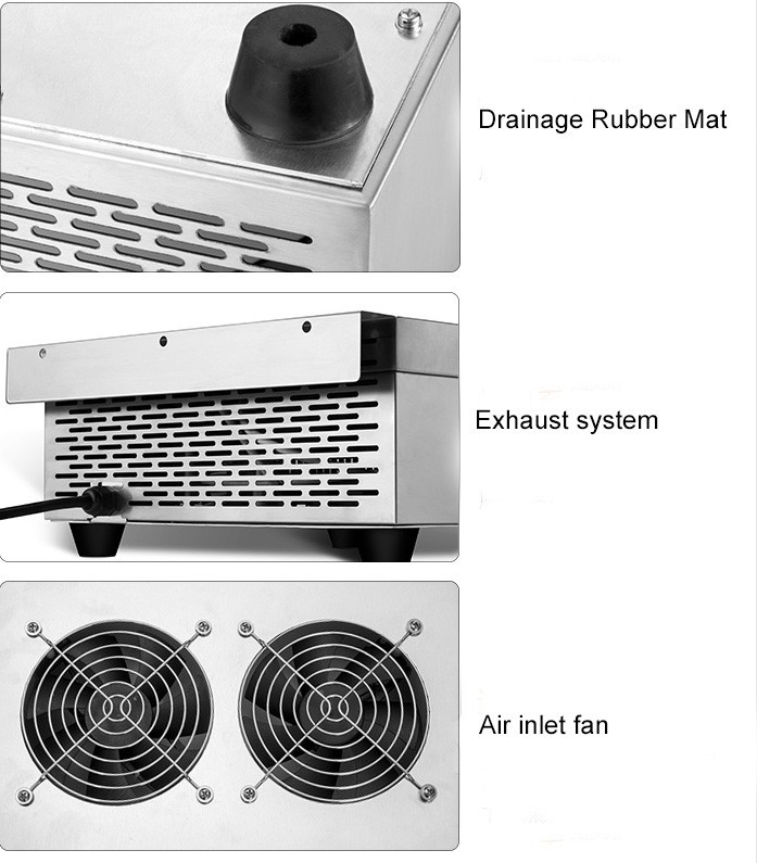 6000W Commercial Flat Electromagnetic Electric Stove Kitchen Induction Cooker 2 Steps Heating Stove For Soup