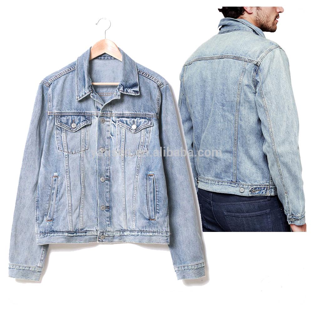 wholesale Jacket jeans Fade Color custom Mens denim jacket