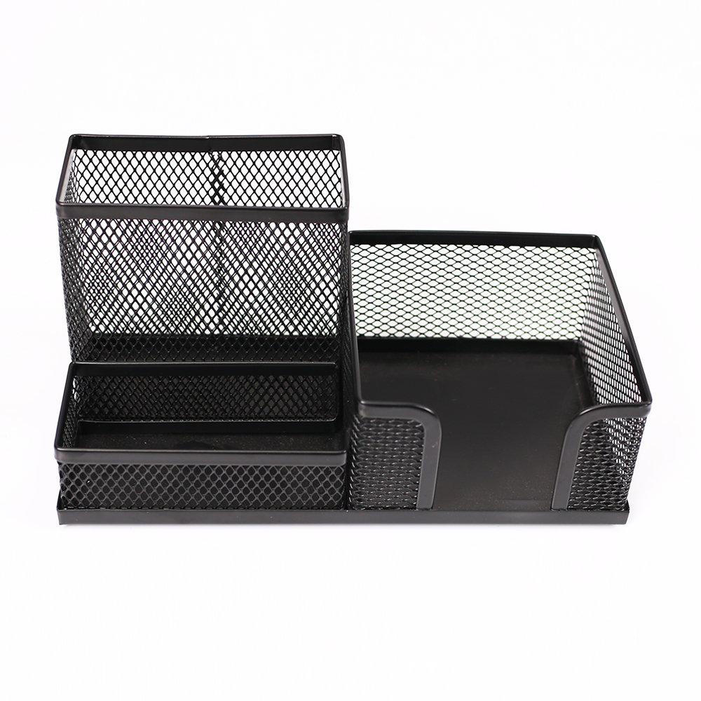 Metalen Mesh multifunctionele Crystal Desk Organizer