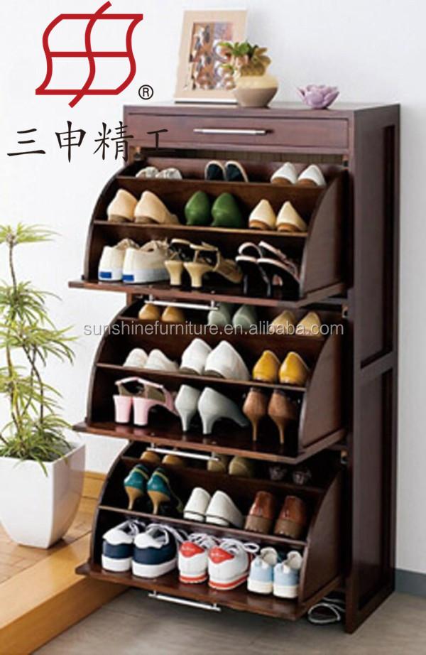 meubles de maison nouvelle conception ronde en bois tag re chaussures rond armoire. Black Bedroom Furniture Sets. Home Design Ideas